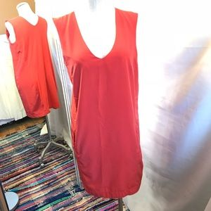 Zara bright red shift dress